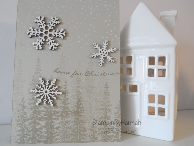 Stampin' Up! wooden elements Christmas card