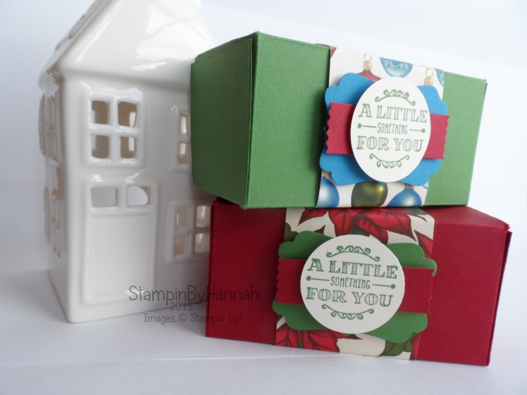 Stampin' Up! UK 12 weeks of christmas table gifts