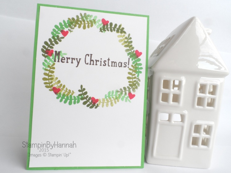 Stampin' Up! Uk Christmas card stamping