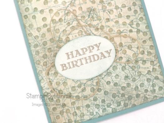 Stampin' Up! UK male birthday card