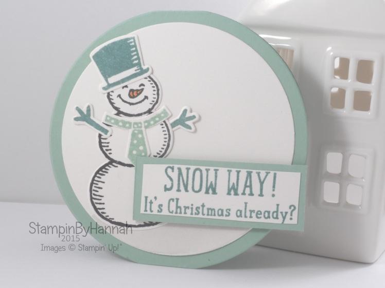 Stampin' Up! UK Round Christmas card