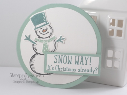 Stampin' Up! UK Round Christmas card