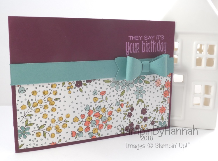 Stampin' Up! UK Wildflower fields birthday Sale-a-bration