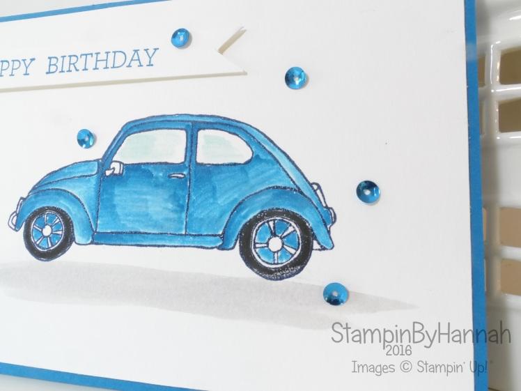 Stampin' Up! UK Boys Birthday card cars