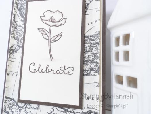 Stampin' Up! UK Birthday Blooms monotone card