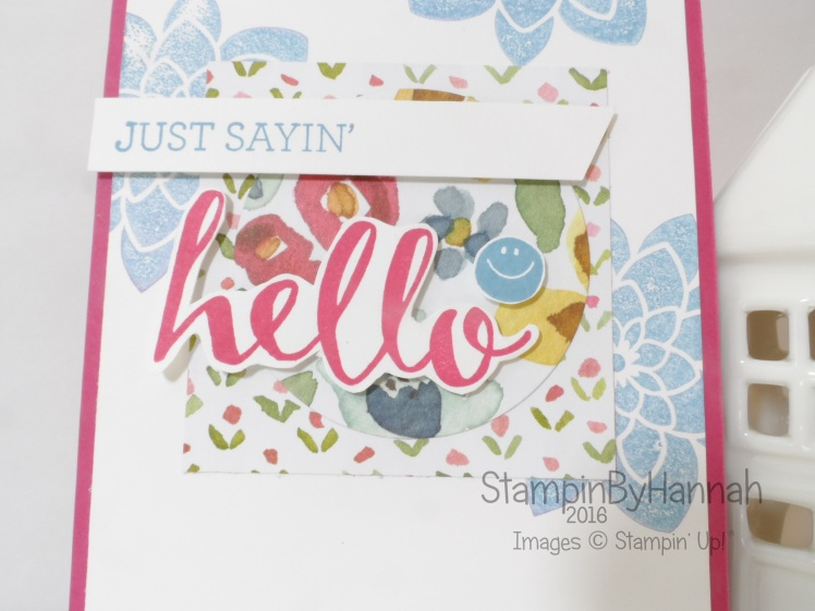 Stampin' Up! UK Just Saying Hello