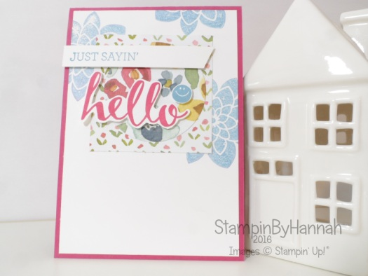 Stampin' Up! UK Global Design Project Sketch Challenge