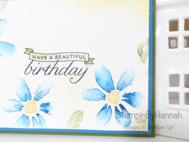 Stampin' Up! UK Watercolour with stamping
