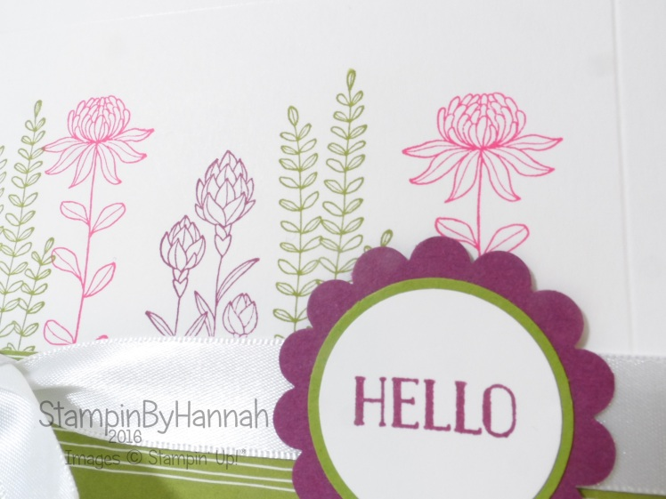 Stampin' Up! Flowering Fields Hello