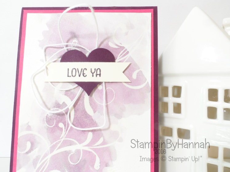 Stampin Up! UK Valentines card 2016