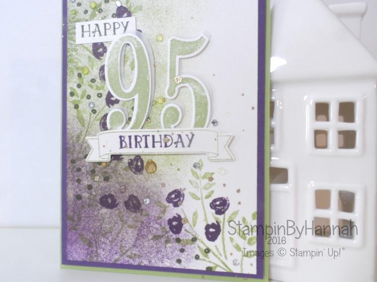Stampin' Up! UK Aged birthday card Blog Hop