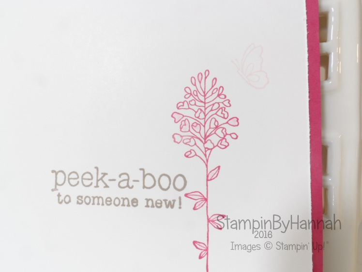 Stampin' Up! UK Suite Sayings baby card