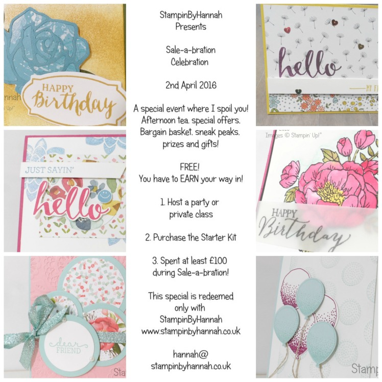 Stampin' Up! Sale-a-bration Celebration event