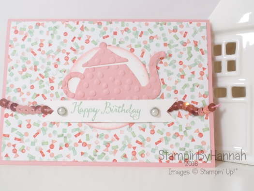 Stampin' Up! UK Sketch Challenge time for tea