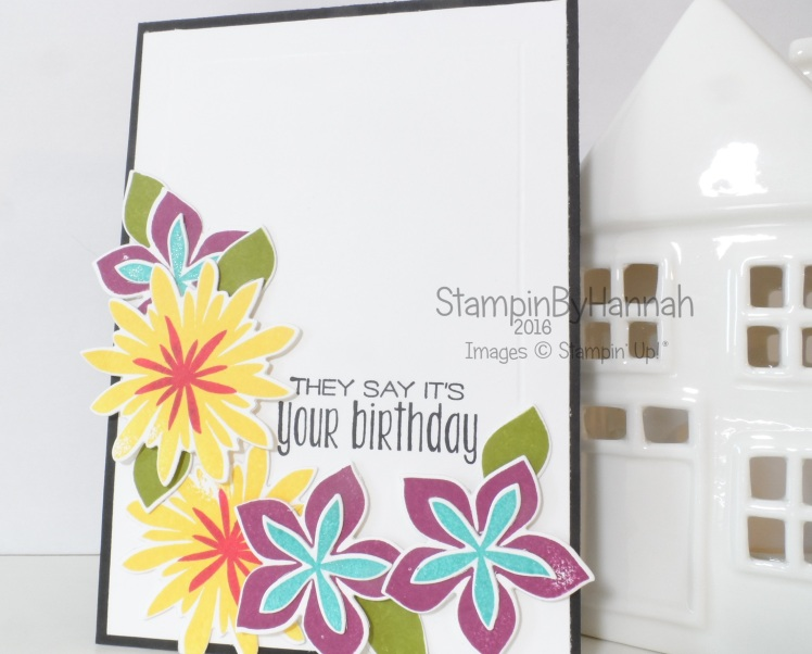 Stampin' Up! UK Suite Sayings Flower Patch Birthday card