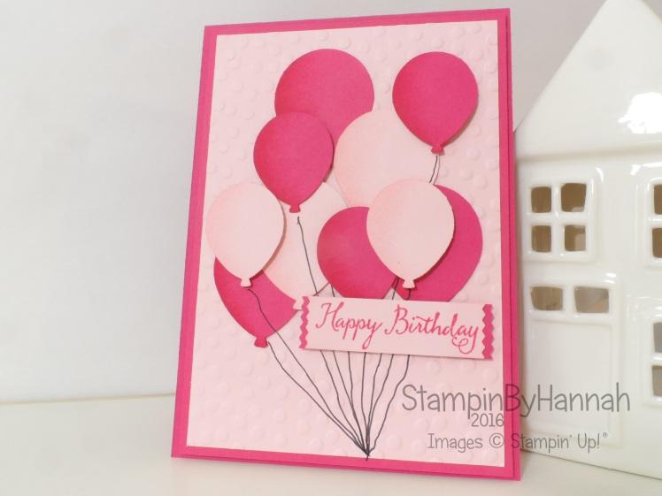 Stampin Up UK Balloon Birthday Card