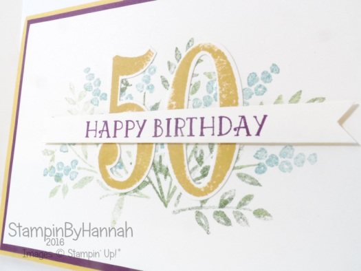 Stampin' Up! UK 2014-2016 in colours birthday card