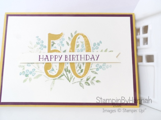 Stampin' Up! UK Number of years birthday card
