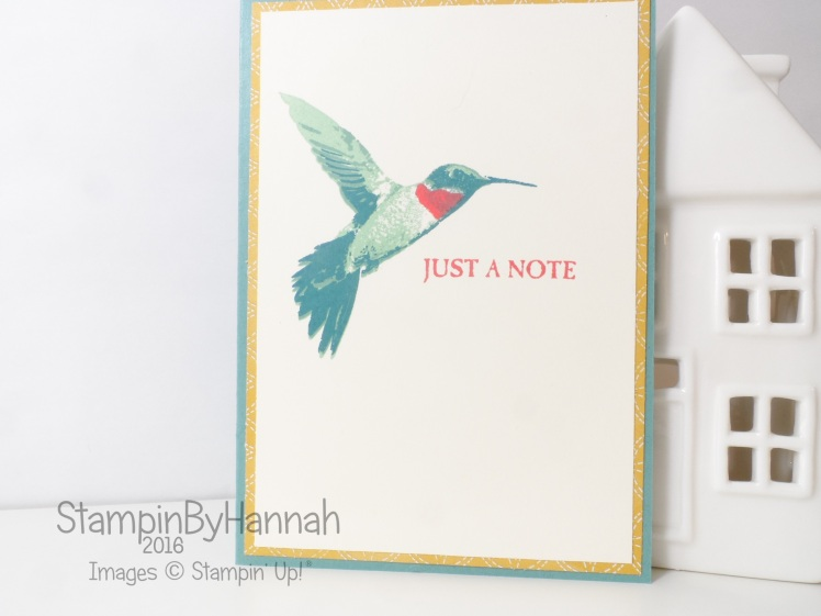 Stampin' Up! UK Picture Perfect Just a note card