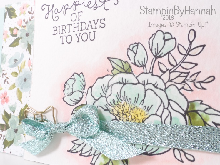 Stampin' Up! UK Birthday Blooms Card Class