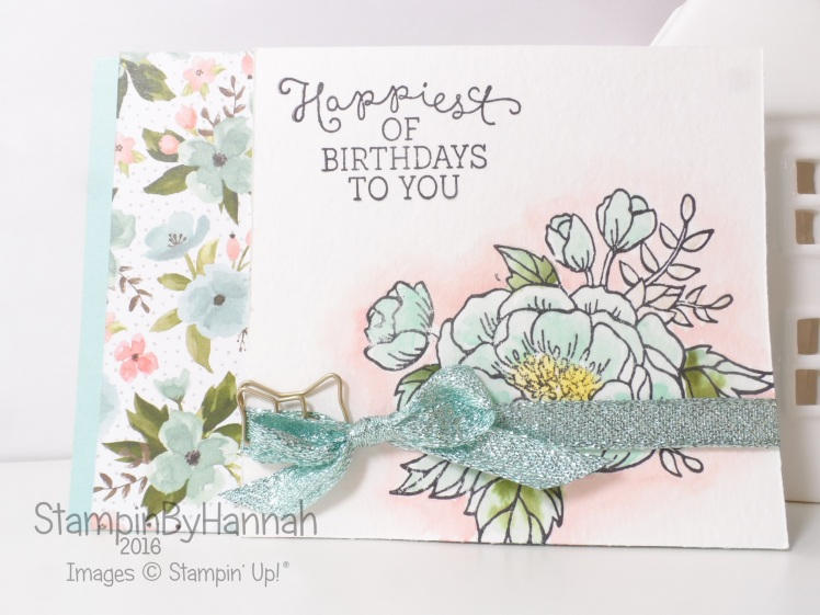 Stampin' Up! UK Birthday Blooms Card Class Watercolour