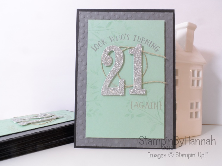 Stampin' Up! UK Number of Years team training swap