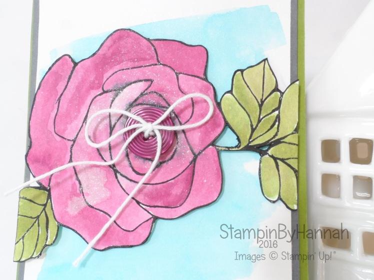 Stampin' Up! UK Rose Wonder Watercolour