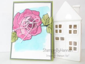 Stampin' Up! UK Rose Wonder Shimmer wink of stella