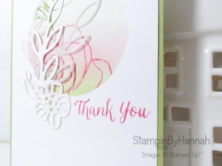 Stampin' Up! Rose Wonder Thank you card