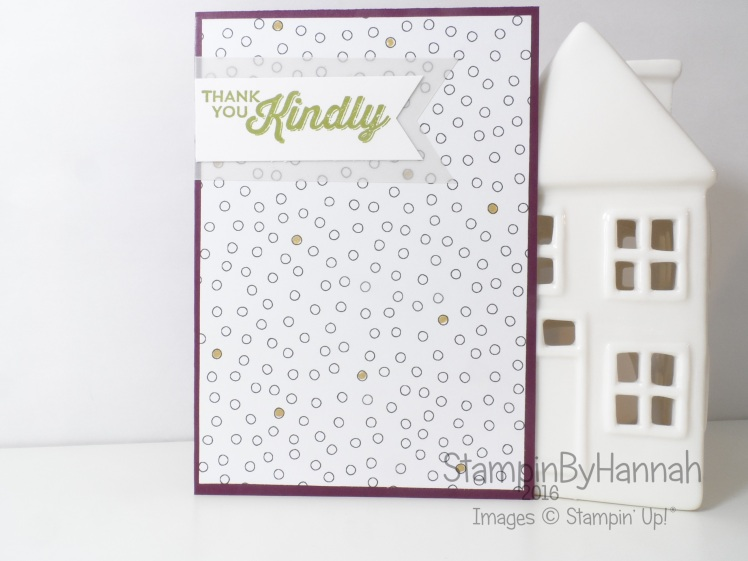 Stampin' Up! UK Customer Thank you Cards