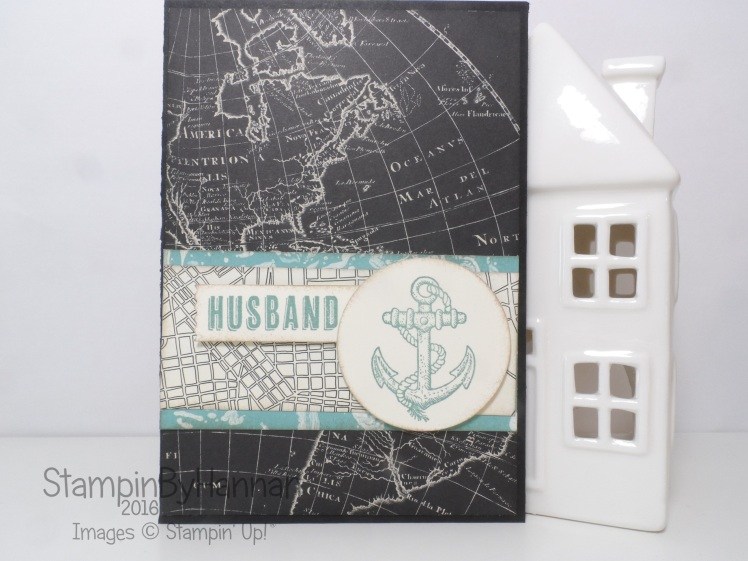 Stampin' Up! UK Mans birthday card Guy Greetings