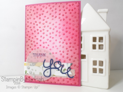 Stampin' Up! UK Thank you card Crazy About You English Garden