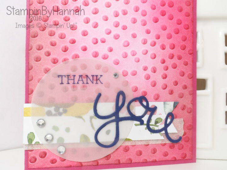 Stampin' Up! UK Crazy About You thank you card