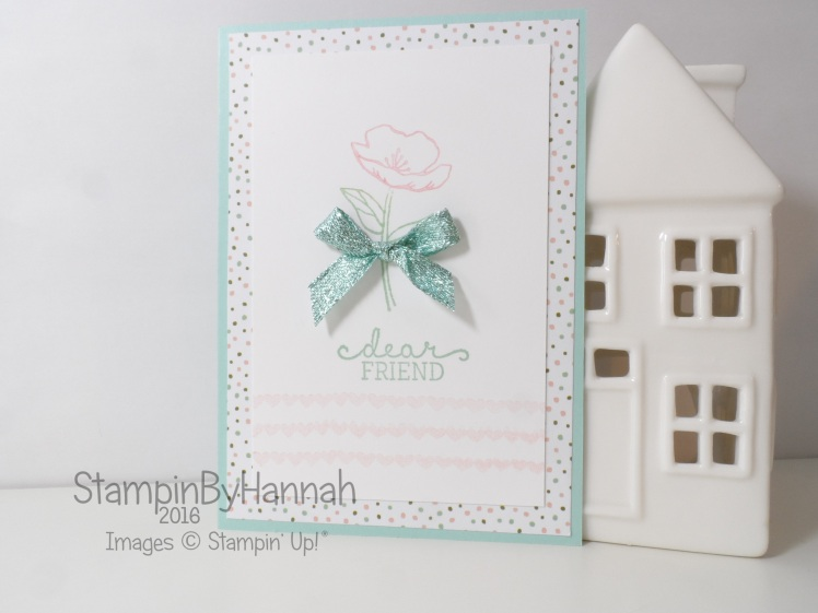 Stampin' Up! UK Dear Friend Birthday Blooms