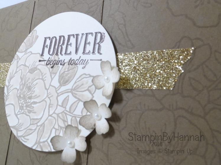 Stampin' Up! UK Sketch Challenge Wedding Card Birthday Blooms Suite Sayings