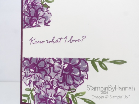 Stampin' Up! UK Sale-a-bration What I Love Blackberry Bliss