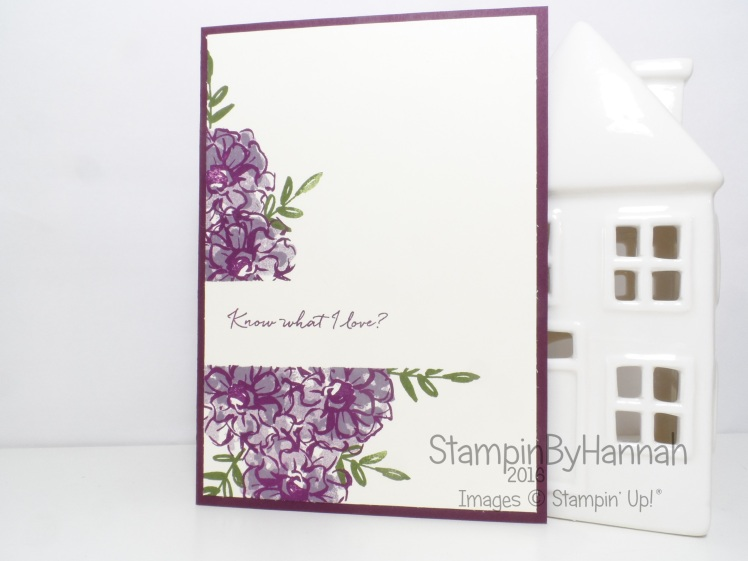 Stampin' Up! UK What I Love Blackberry Bliss