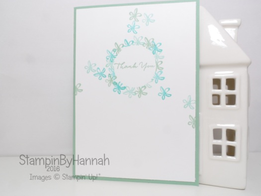 Stampin' Up! UK Thank you card What I Love