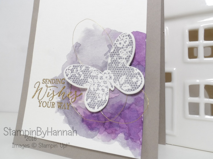 Stampin' Up! UK Thinking of you Watercolour Background