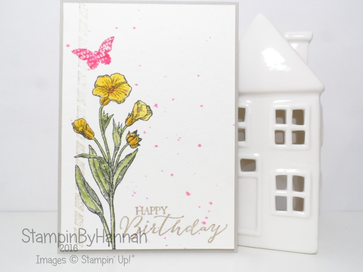 Stampin' Up! UK Butterfly Basics Watercolour Birthday Card