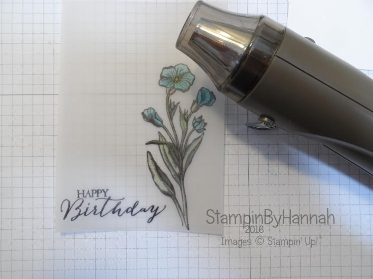 Stampin' Up! UK Vellum tips and tricks