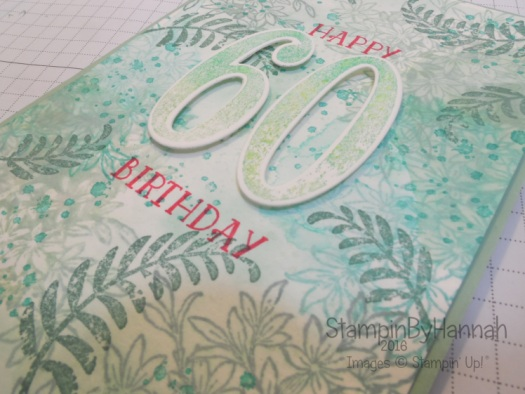 Stampin' Up! UK Awesomely Artistic Number of Years Birthday Card