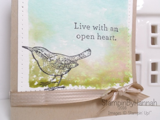 Stampin' Up! UK Acrylic Block Stamping An Open Heart