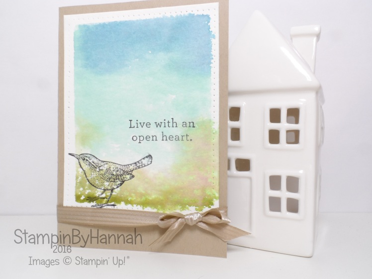 Stampin' Up! UK Watercolour technique An Open Heart