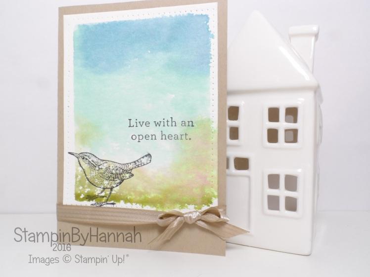 Stampin' Up! UK Watercolour technique An Open Heart