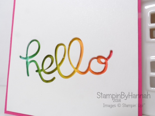 Hello you thinlits from Stampin' Up!