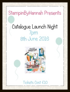 Stampinbyhannah Stampin' Up! Annual Catalogue Launch Event 2016