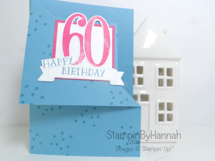 Fancy Fold Friday Video Tutorial Corner Fold Card featuring Number of Years from Stampin' Up! UK