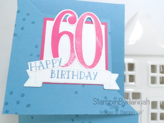 Fancy Fold Friday Corner Fold Card featuring Number of years from Stampin' Up! Uk