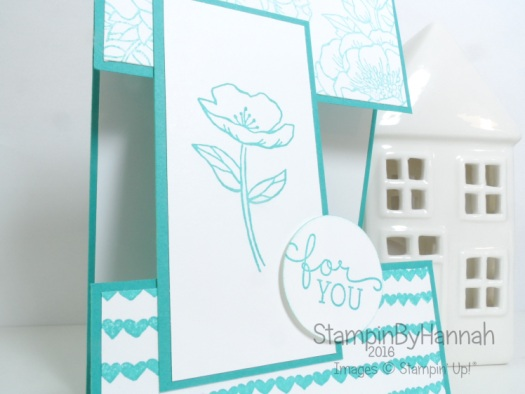 Fancy Fold Friday Split Panel Card using Birthday Blooms from Stampin' up! Uk